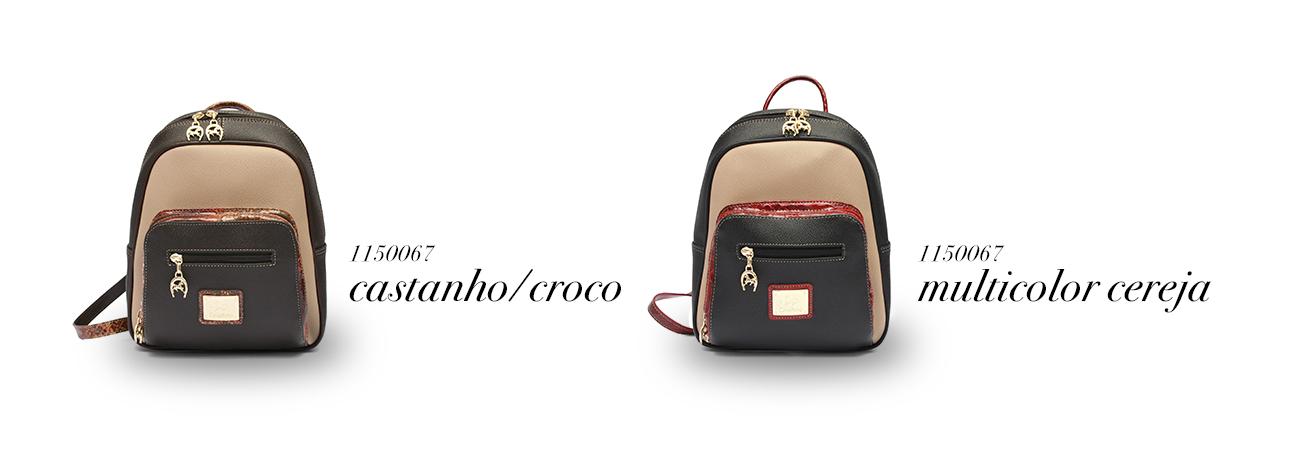 Ref:1150067 CastanhoCroco / Multicolor Cereja